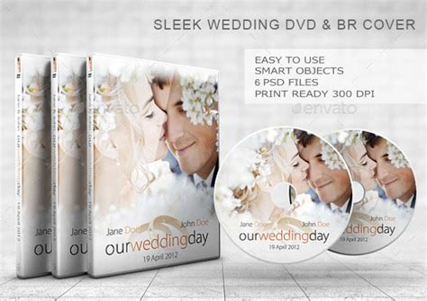 wedding cd dvd cover free psd brochure template