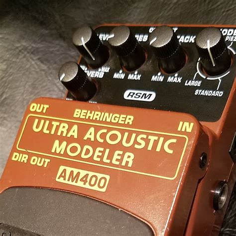 Behringer Guitar Stompboxes Ultra Acoustic Modeler Am400 behringer am400 ultra acoustic modeler reverb