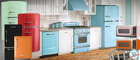 kitchen appliances made in usa big chill retro yet very modern kitchen appliances us