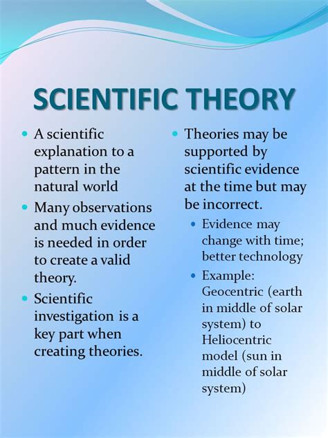 big idea 3 the of theories laws hypotheses and