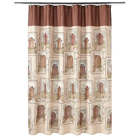 outhouse shower curtain outhouse fabric shower curtain out house bath decor