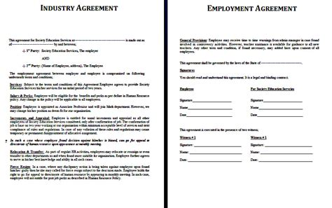 sle barter agreement template industry agreement template youth plus india