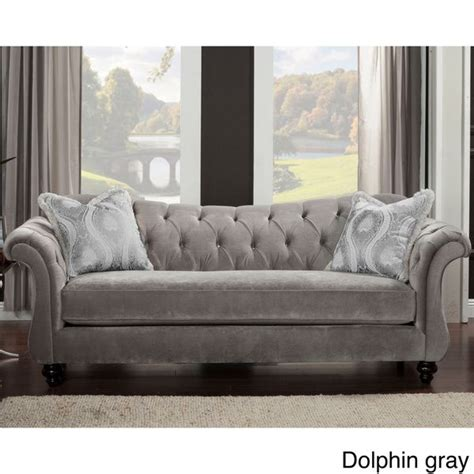 Furniture Of America Agatha Traditional Tufted Sofa By Tufted Sofas Deals