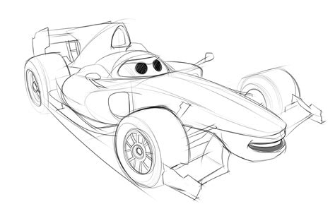 coloring pages cars 2 francesco cars 2 character design francesco bernoulli