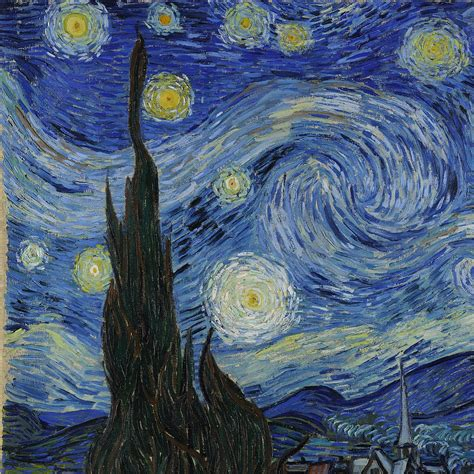starry night vincent van gogh starry night 1889 detail pinterest
