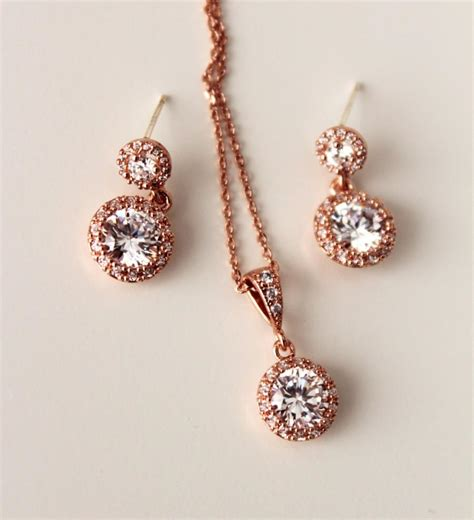 delicate everyday earrings and necklace set