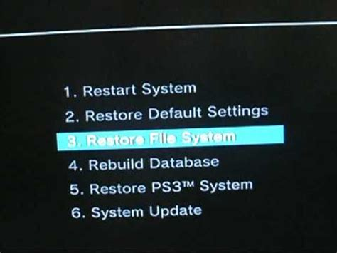 reset ps3 video settings black screen how to fix ps3 black screen youtube