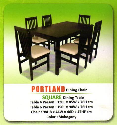Meja Makan Untuk 6 Orang lb meja makan square 6 kursi portland lb