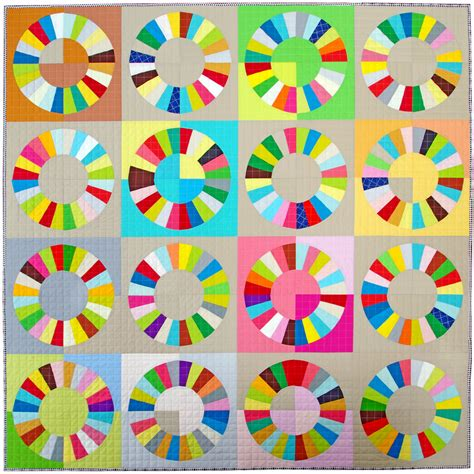 pepper quilts color wheel block pattern and tutorial
