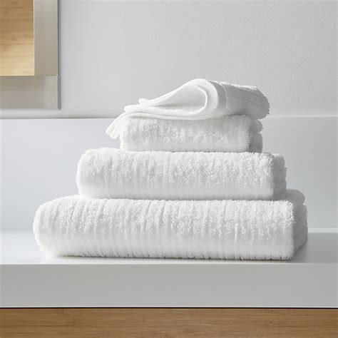 Black And White Bathroom Towels by Ribbed White Bath Towels Crate And Barrel