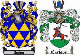 Carlson Coat Of Arms Swedish