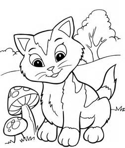 free printable kitten coloring pages kids coloring pages kids