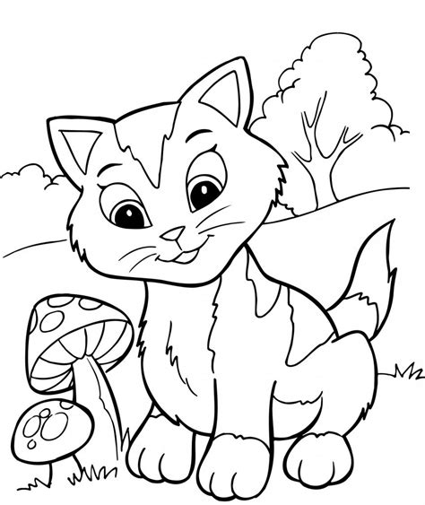 free coloring pages printable free printable kitten coloring pages for best