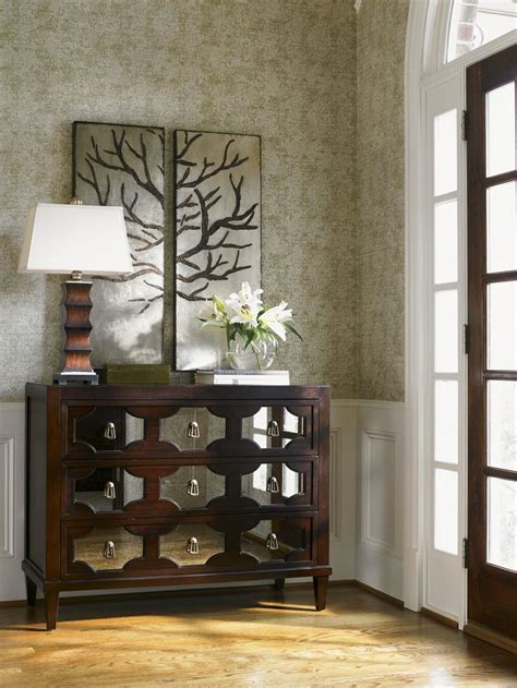 Accent Pieces For Entryway Kensington Place Winslow Mirrored Chest