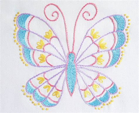 butterfly pattern in c stem stitch butterfly pattern