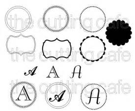 Monogram Template by Monogram Set Silhouette Ideas Tutorials And Projects