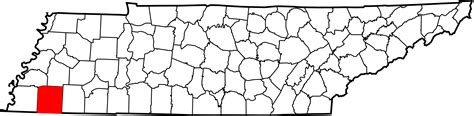 Fayette County Tennessee Records File Map Of Tennessee Highlighting Fayette County Svg