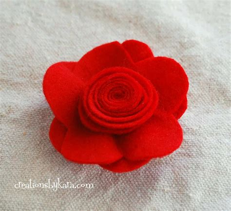 Nice Free Christmas Felt Patterns #6: Felt-flower-rose-tutorial-009.jpg