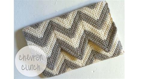 pattern you tube crochet tutorial chevron clutch youtube