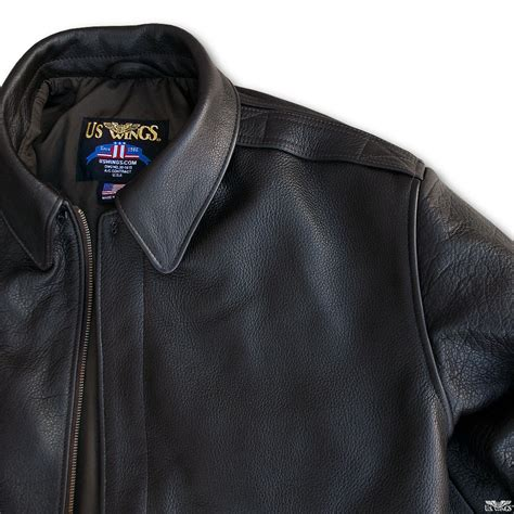American Bison Leather Jacket Modern A 2
