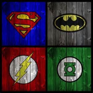 Avengers Bedroom Theme Supermam Batman The Flash And Green Lantern Symbols