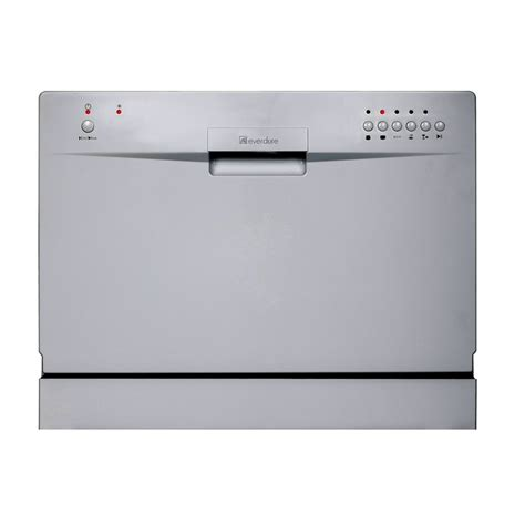everdure 55cm silver countertop dishwasher bunnings
