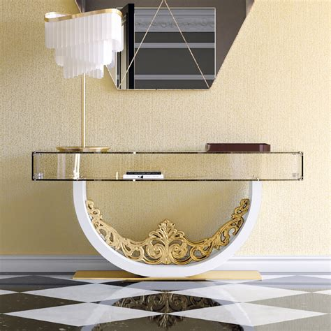 modern console table luxury contemporary glass console table juliettes interiors