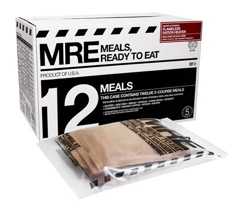 Shelf Of Mre Meals by Meals Ready To Eat Mres Of 12 Survival Food
