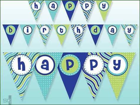 blue polka dot banner blue striped banner full alphabet birthday