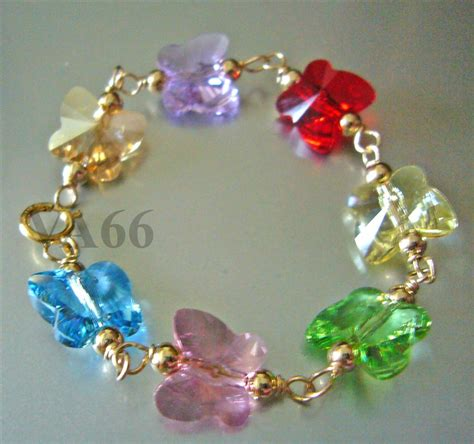 Gelang Bracelet 14k Gold Swarovski Baby Bracelet Suasa Butterfly Gelang