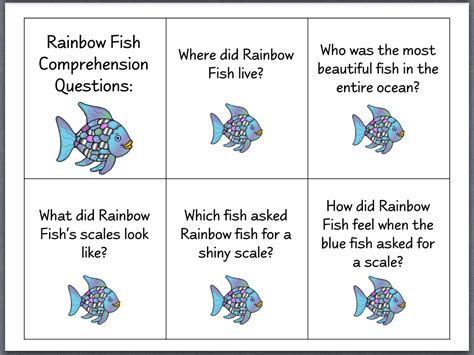 Let S Talk The Rainbow Fish Page 2 Activites Based