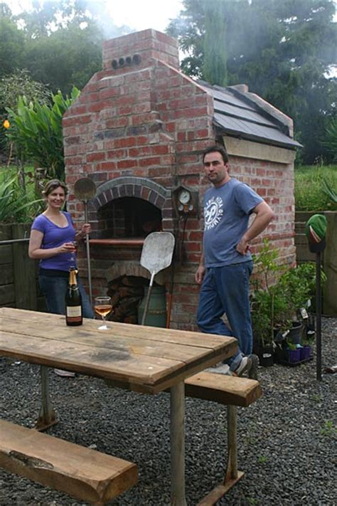 backyard brick oven brick oven with temperature gauge