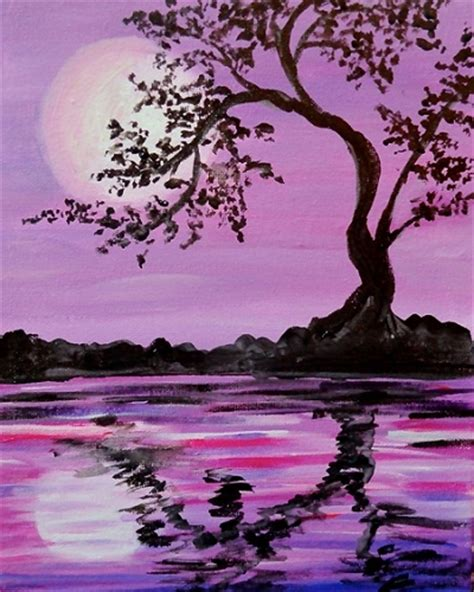 paint nite island pictures paint nite lavender moonlit silhouette