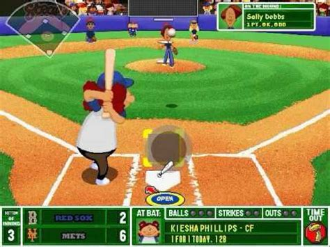 backyard baseball computer game backyard baseball 2003 gameplay youtube