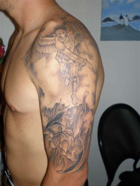 half angel half demon tattoo images designs