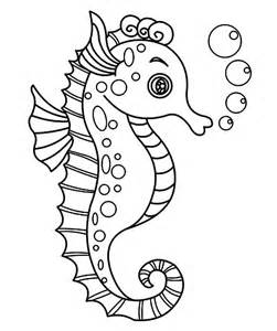 seahorse coloring page seahorse template animal templates free premium