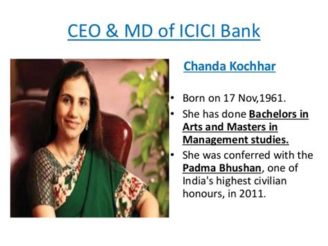 who is the owner of icici bank icici colg ppt