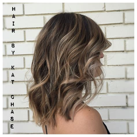 Medium Balyage Hairstyles | ash blonde balayage highlights on medium hair haircolor