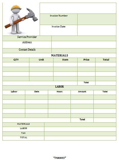 carpenter invoice template 25 professional carpenter invoice templates demplates