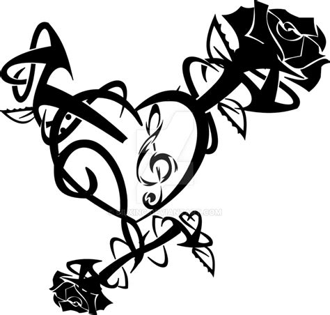 tribal heart and rose tattoos tribal and designs www imgkid the image