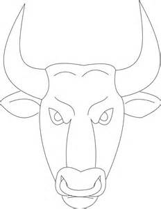 bull mask printable coloring page for