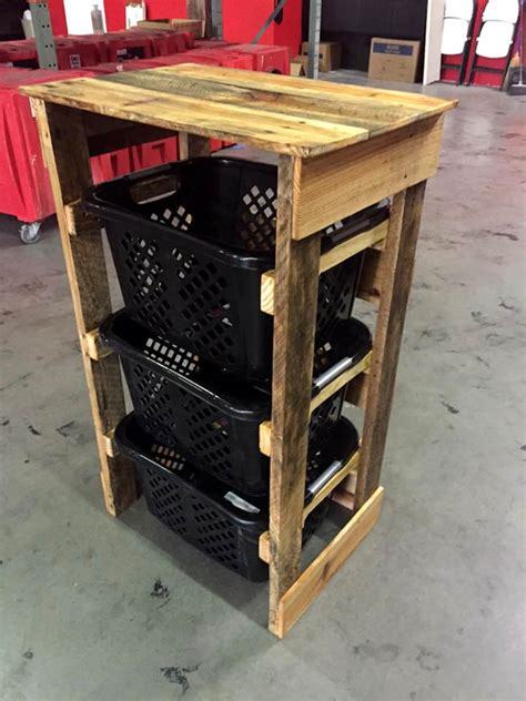 130 Inspired Wood Pallet Projects Wooden Laundry Plans