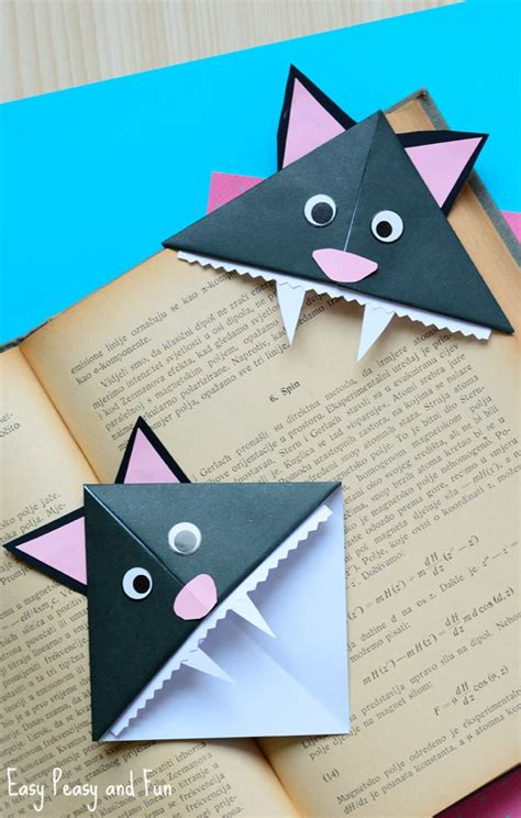 Origami Cat Bookmark - cat corner bookmarks origami for easy