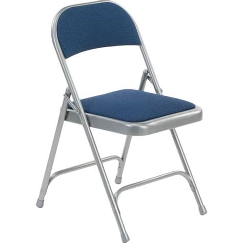Padded Folding Chairs Virco 188 Fabric Padded Metal Folding Chair The