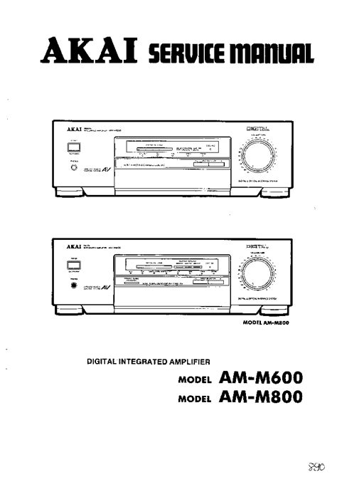Akai Am M600 M800 Service Manual Download Schematics