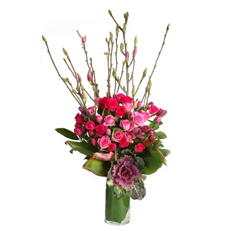 Vase Arrangements Branches by Roses With Seasonal Branches In Vase The Floral Decorator