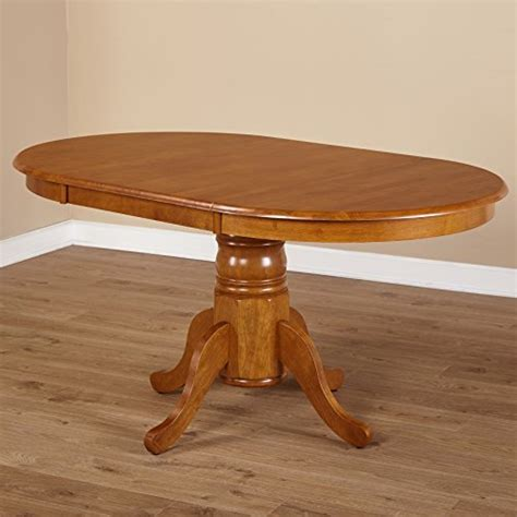 Oval Farmhouse Dining Table Simple Living Oak Rubberwood Oval Farmhouse Dining Table Homegoodsreview