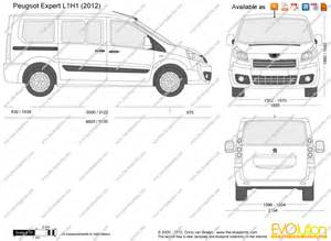 Peugeot Expert Dimensions The Blueprints Vector Drawing Peugeot Expert L1h1