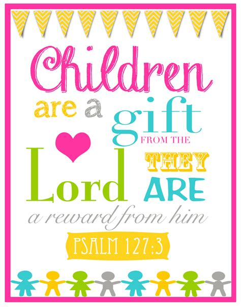 children are a gift from god bible verse wall by