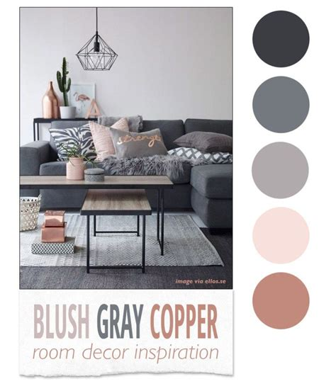 trend alert pink copper design color trends pinterest blush gray copper room decor inspiration room decor